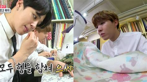bts in variety show watch bts s jimin and j hope sew up a storm as quot interns