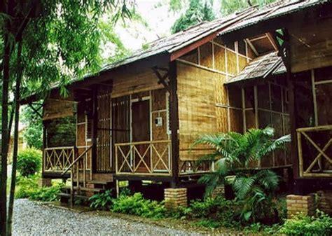contoh gambar desain rumah bambu unik rumah bagus minimalis