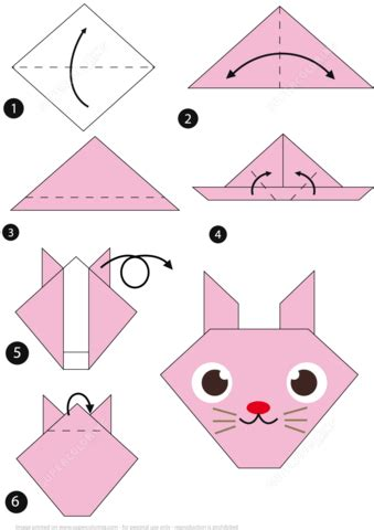 How To Make A Paper Rabbit Origami - how to make a paper rabbit origami alfaomega info