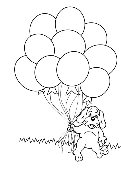 bunch of balloons coloring sheet coloring pages