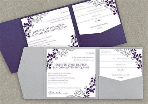 invitation pocket template 6x6 pocket wedding invitation template set