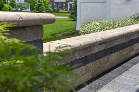 Unilock Pillars Add Vertical Dimensions With Pillars Steps And Retaining