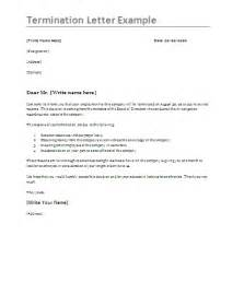 job termination letter template formsword word