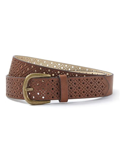 perforated faux leather belt penningtons