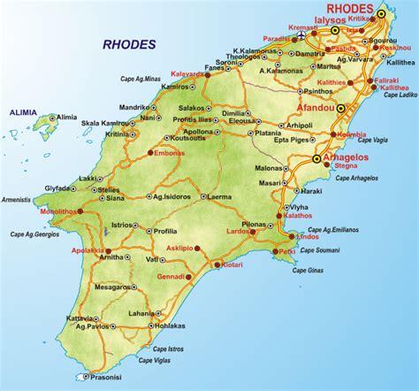 Rhodes Greece Map by Rhodes Tourism Info Web Sites