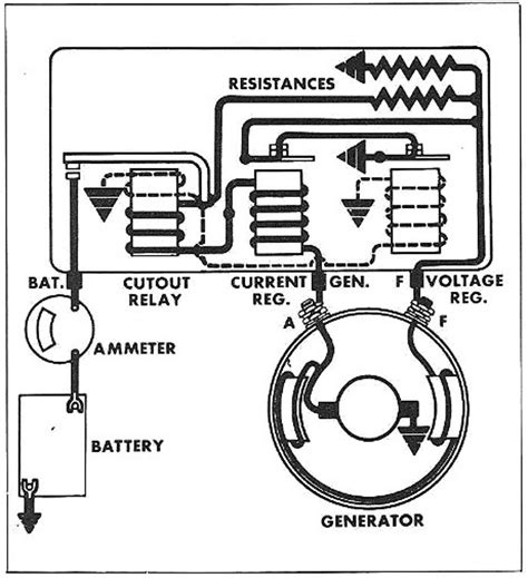 charging circuit diagram for the 1956 delco remy 12 volt chevrolet passenger cars circuit