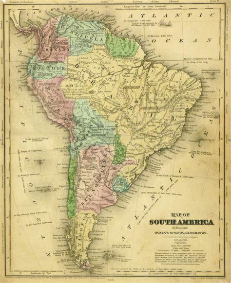 american map of south america map 1844 original antique maps prints