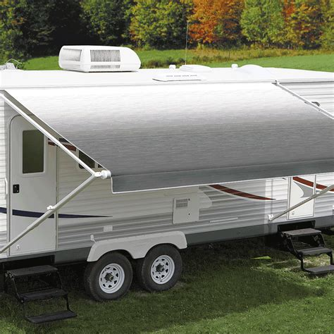 rv roll up awnings carefree 17 eclipse 12v silver shale fade awning no arms