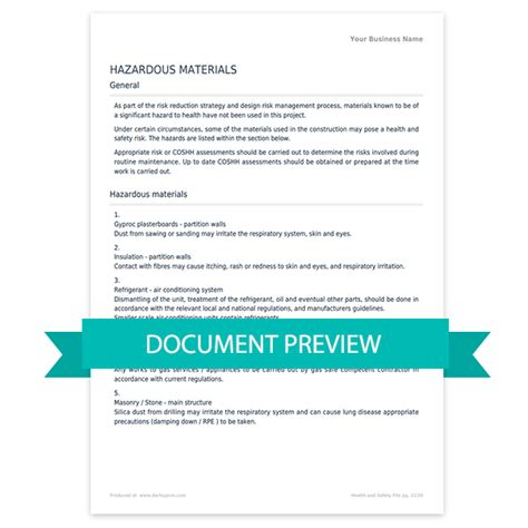cdm health and safety file template darley pcm