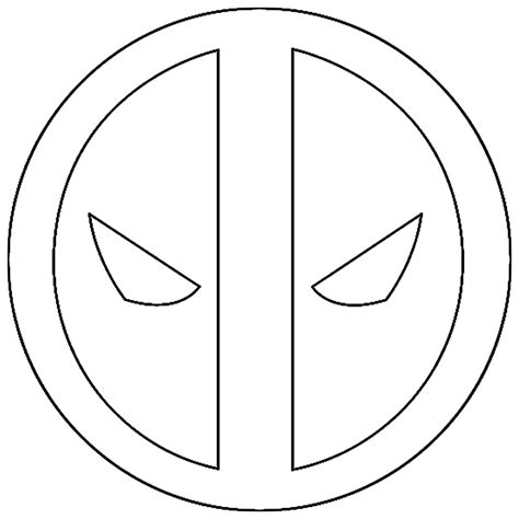 Deadpool Symbol Coloring Pages | deadpool free colouring pages
