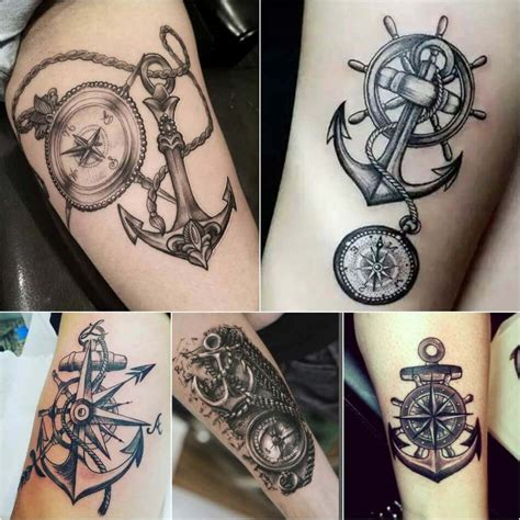 compass and anchor tattoo designs compass designs popular ideas for compass tattoos