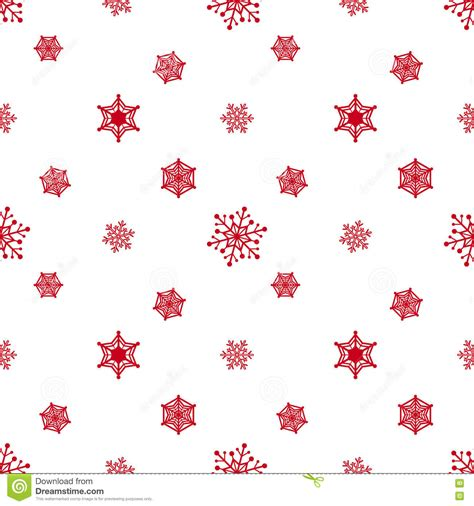 white xmas pattern snowflake red white background stock vector image 79609267