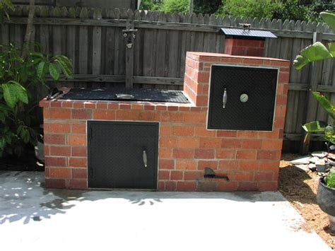 diy backyard smoker brick barbecue 21 steps with pictures