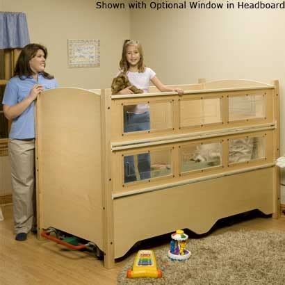 special needs bed sleepsafer dual view tall bed hi lo electric