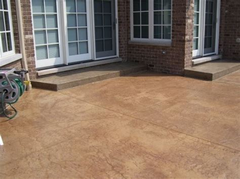 Concrete Patio Sealant by Stained Concrete Patio Patterns Home Decorating Excellence