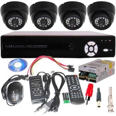Cctv Set set of 4 vision cctv cameras 4 channel network dvr