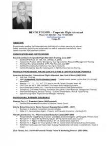 Flight Attendant Resume Exle by Flight Attendant Description Resume Sles Of Resumes