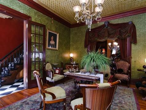green victorian dining room pinteres