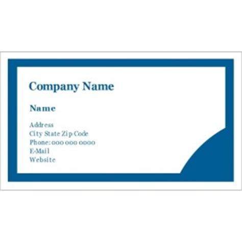 Business Card Sheet Template Word by Templates Blue Circle Design Business Cards 10 Per