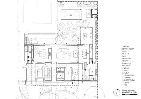 concrete floor plans gallery of concrete house matt gibson architecture 22