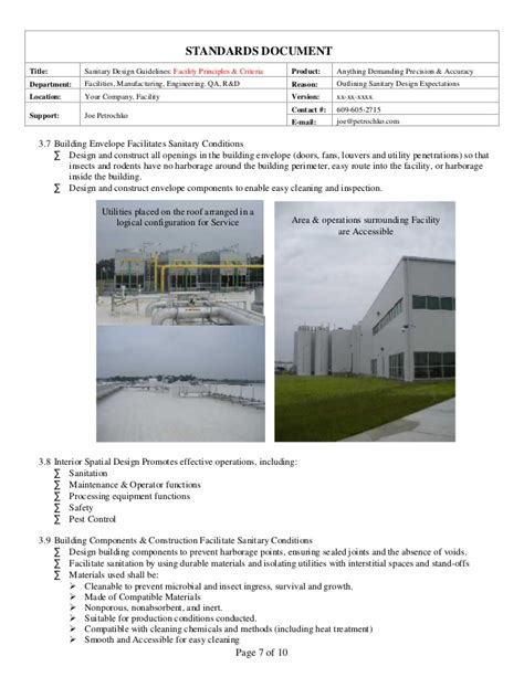 facility design guidelines sanitary facility design guidelines part 2 of 2