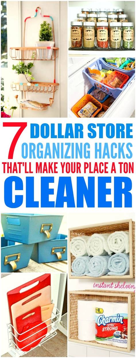 Dollar Store Organization Hacks | top 25 best dollar store hacks ideas on pinterest