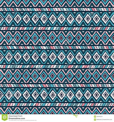 tribal pattern blue and pink ethnic tribal seamless pattern in pink and blue stock