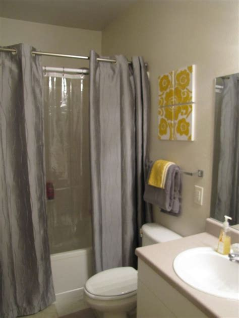 bathroom with shower curtains ideas 17 best ideas about two shower curtains on pinterest