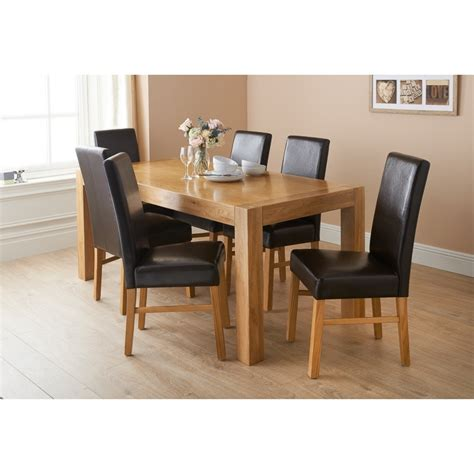 Oak Dining Table Sets Bm Newbury Oak Dining Set 7pc Dining Furniture Dining Table B M Dining Table And Chairs B M