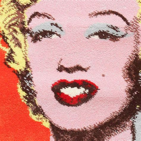ege rug of marilyn by andy warhol at 1stdibs