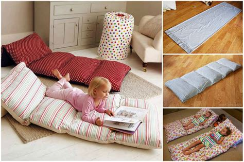 pillow bed for kids how to diy simple roll up pillow bed