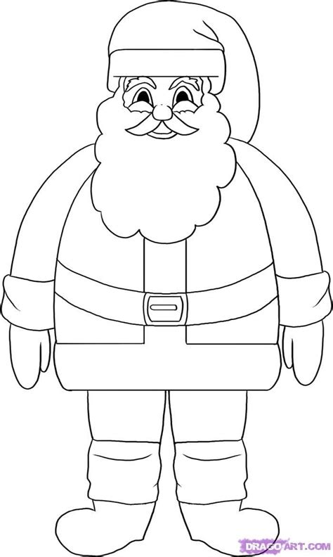 christmas drawing step by step and gift to gift cartoon draw a santa claus search craft for santa stencils and