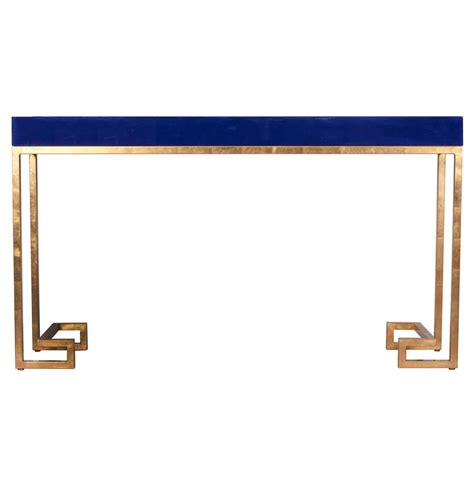 Navy Blue Console Table by Davinci Regency Navy Blue Gold Console Table
