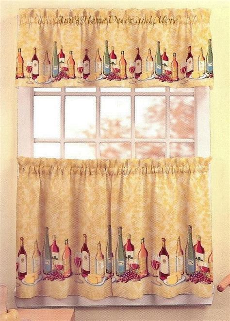wine curtains valances anns home decor and more chardonnay wine cheese 36l tier