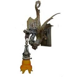Dragon Sconce Bronze Cast Dragon Wall Sconce Custom Lighting Fixture