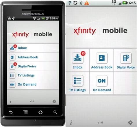 xfinity app for android comcast releases xfinity mobile app for android with dvr scheduling and inbox access