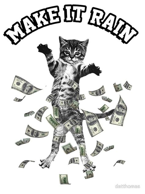 How To Make Wall Decor At Home by Quot Dollar Bills Kitten Make It Rain Money Cat Quot Stickers By