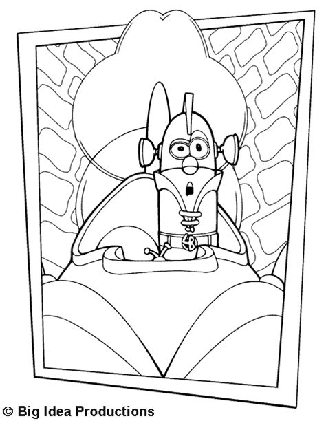 larry boy in larry mobile coloring page veggietales
