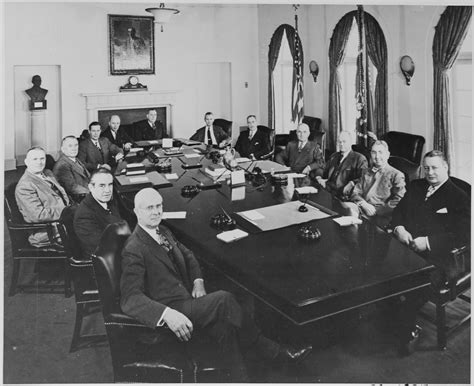 advisors and cabinet file photograph of president truman with his cabinet and