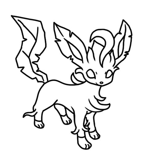 pokemon coloring pages of leafeon leafeon free colouring pages