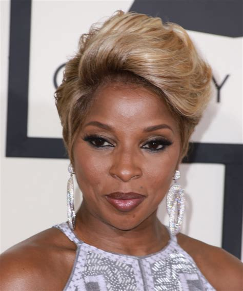 mary j blige hairstyles pictures mary j blige short straight formal hairstyle light brunette
