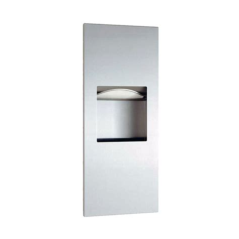 paper towel dispenser bathroom bobrick b36903 1 6 gallon recessed bathroom trash can w
