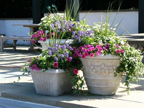 Outside Flower Pots Potted Plants Bring Mood And Style One Decor
