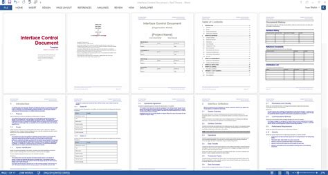 Interface Document Template by Interface Document Ms Word Template