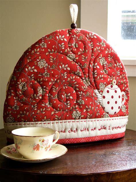 Patchwork Tea Cosy - patchworkpottery tea cozy garden