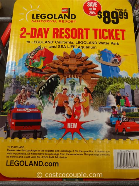 Costco Gift Cards California - legoland 2 day resort ticket gift card