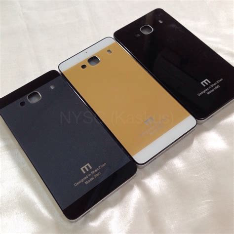 jual xiaomi redmi 2 aluminium frame tempered glass back nysc