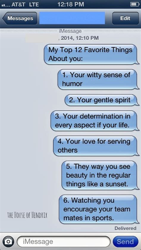 how to make his day special text a favorites thing list to somebody on their birthday