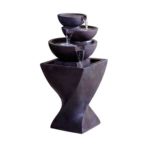modern water fountain kontiki water features faux stone fountains modern tier