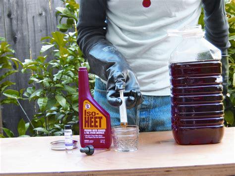 backyard biodiesel convert vegetable oil into a liter of biodiesel fuel make